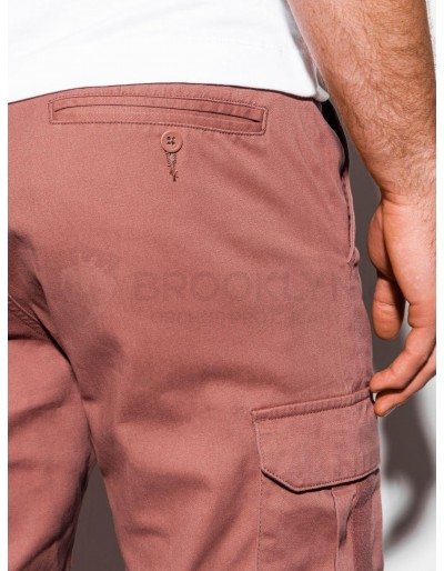 Men's pants joggers P893 - brick