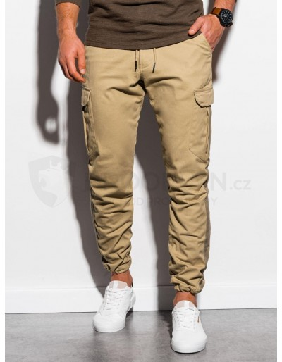 Men's pants joggers P893 - camel
