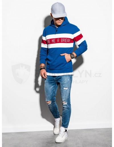 Men's hooded sweatshirt B1066 - blue