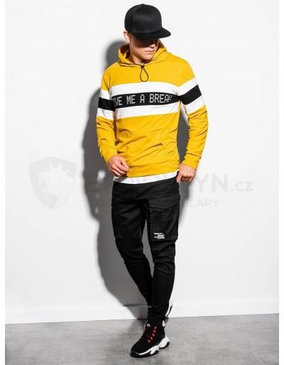 Men's hooded sweatshirt B1066 - yellow