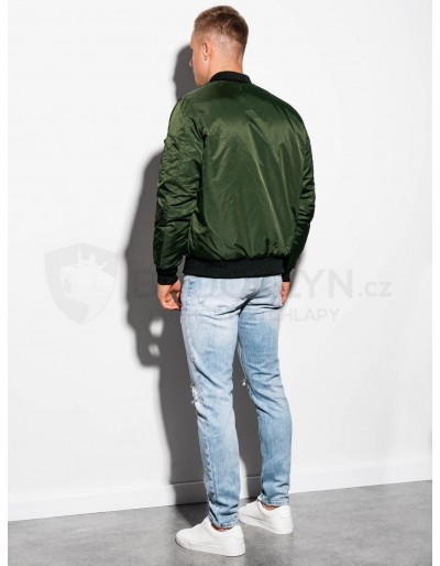 Men's autumn bomber jacket C351 - olive