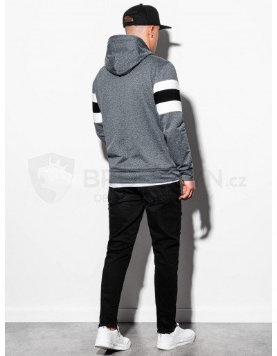 Men's hooded sweatshirt B1066 - dark grey