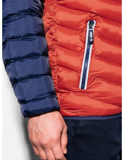 Men's mid-season quilted jacket C366 - orange
