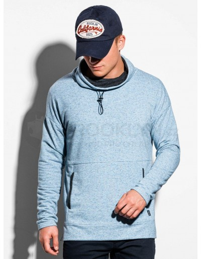 Men's sweatshirt with a stand-up collar B1096 - blue