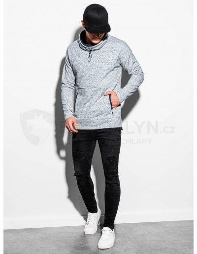 Men's sweatshirt with a stand-up collar B1096 - grey