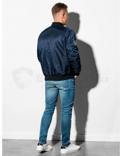 Men's autumn bomber jacket C351 - navy