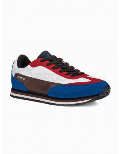 Men's casual sneakers T349 - red