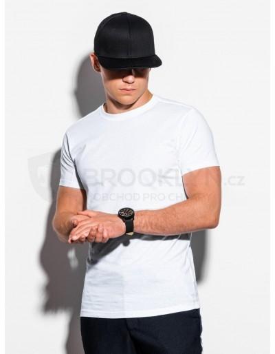 Pánské obyčejné tričko S884 - bílé