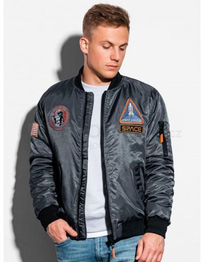 Men's autumn bomber jacket  C351 - grey