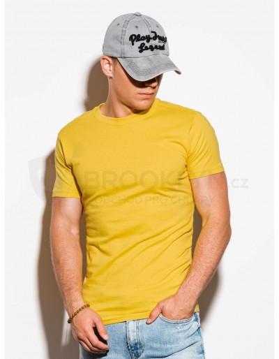 Pánské obyčejné tričko S884 - žluté