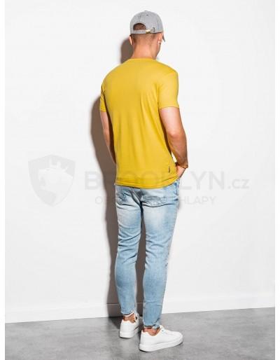 Men's plain t-shirt S884 - yellow