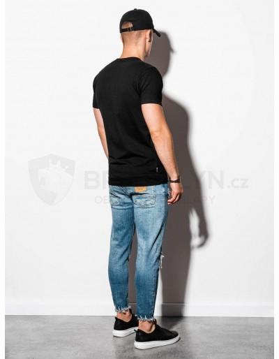 Men's plain t-shirt S884 - black