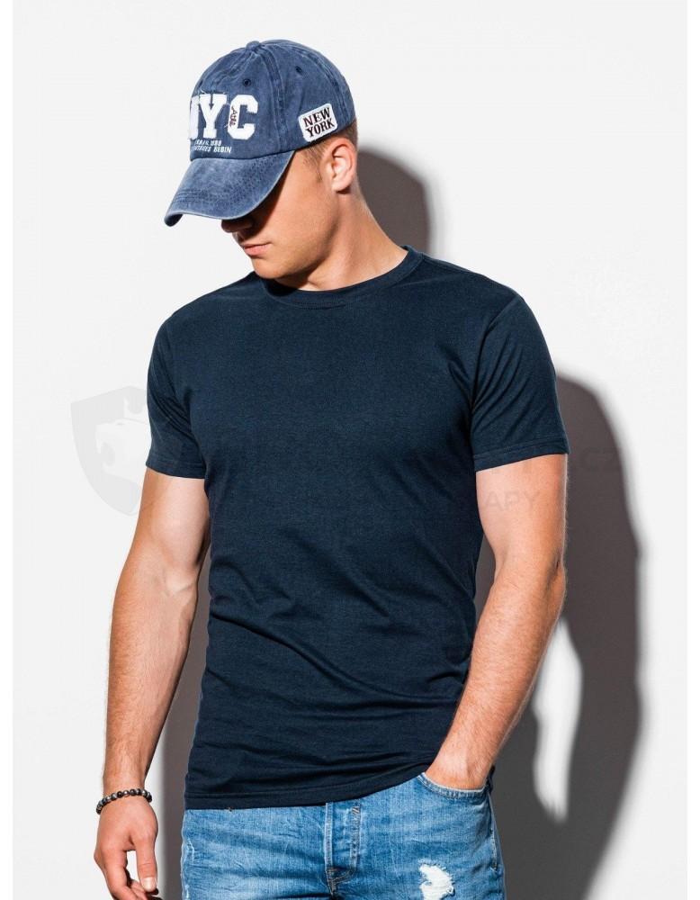 Pánské obyčejné tričko S884 - tmavě námořnická