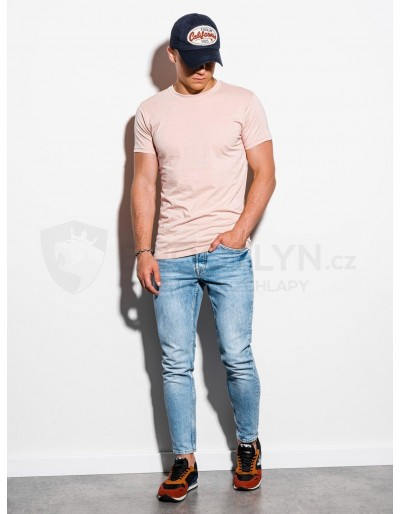 Men's plain t-shirt S884 - peach