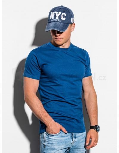 Pánské obyčejné tričko S884 - navy V