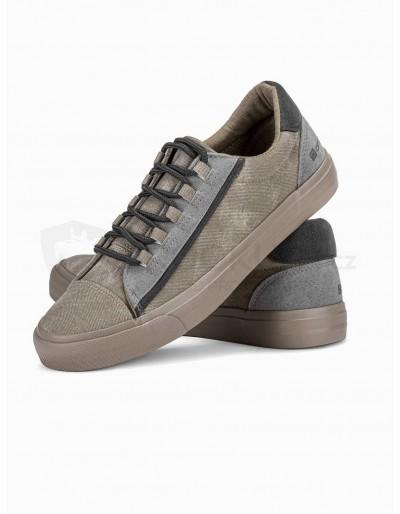 Men's high-top trainers T346 - grey