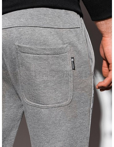 Men's sweatpants P899 - grey melange