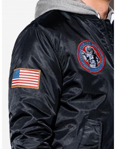 Men's mid-season bomber jacket C351 - black