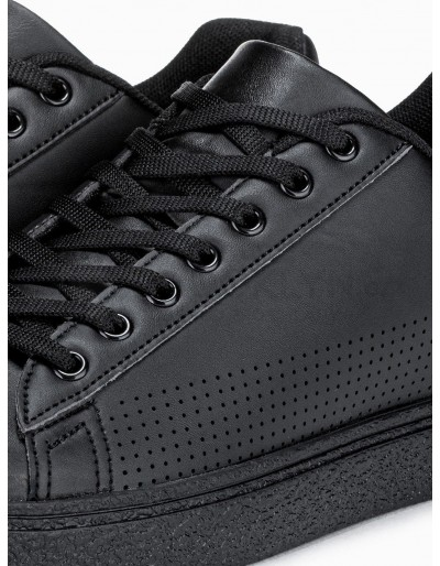 Men's high-top trainers T359 - black