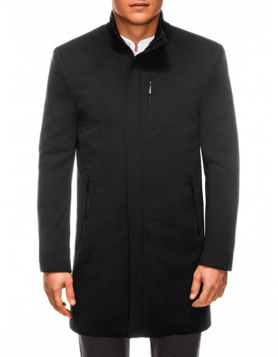 Pánský kabát C430 v polovině sezóny - černý