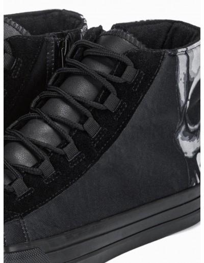 Men's ankle shoes T347 - black