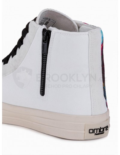 Men's ankle shoes T347 - white
