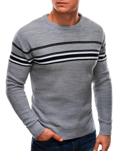 Pánský svetr E204 - šedý