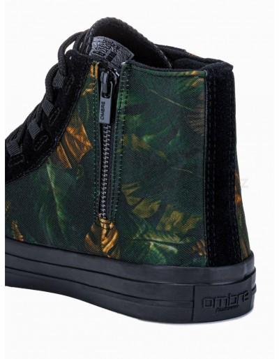 Men's ankle shoes T347 - khaki