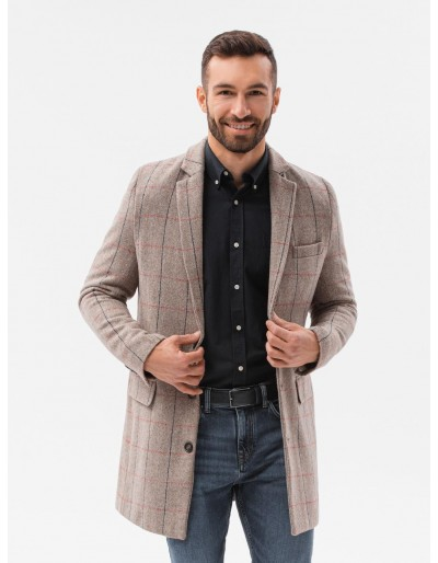 Pánský kabát C500 - béžový
