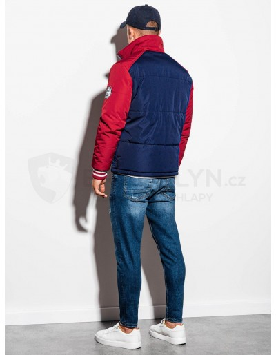 Men's mid-season quilted jacket C448 - navy