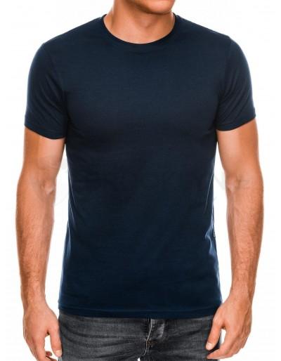 Men's plain t-shirt S884 - navy