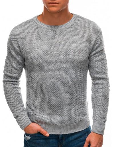 Pánský svetr E202 - šedý