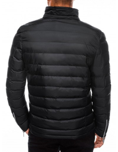 Men's mid-season quilted jacket C445 - black