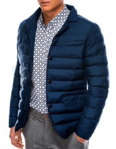 Men's mid-season quilted jacket C445 - navy