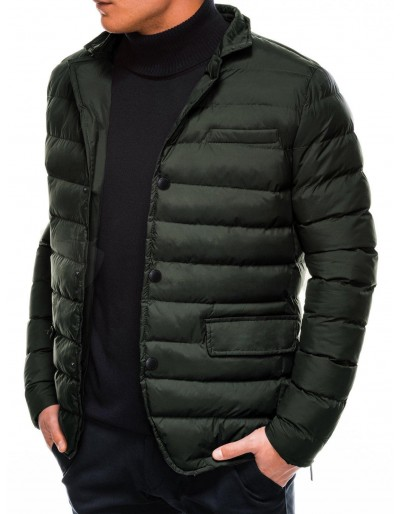 Men's mid-season quilted jacket C445 - khaki