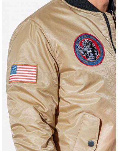 Men's mid-season bomber jacket C351 - beige