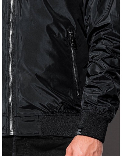 Men's autumn bomber jacket C439 - black
