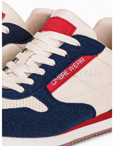 Men's casual sneakers T310 - ecru