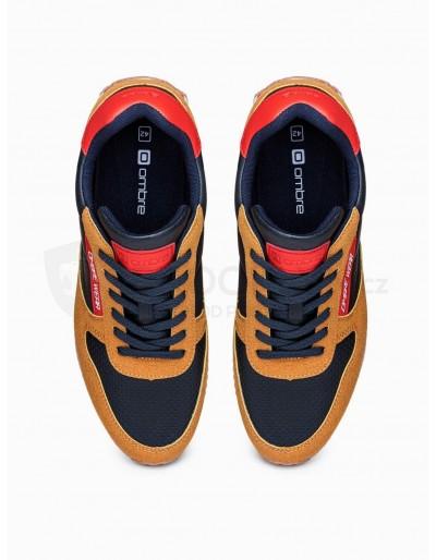 Men's casual sneakers T310 - camel
