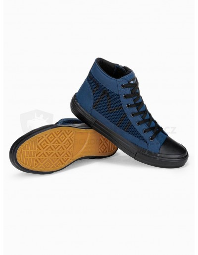 Men's ankle shoes T353 - navy