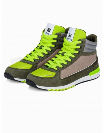 Men's casual sneakers T358 - khaki