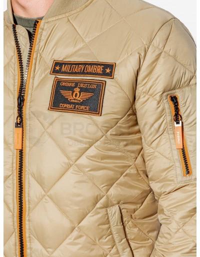 Men's mid-season bomber jacket C357 - beige