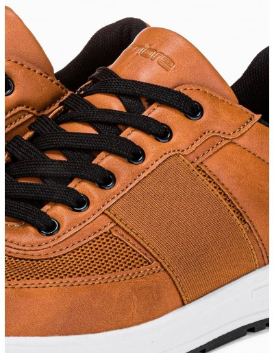 Men's casual sneakers T361 - brown