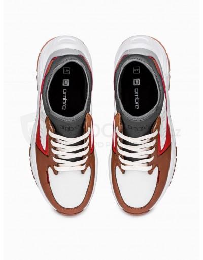 Men's casual sneakers T363 - brown