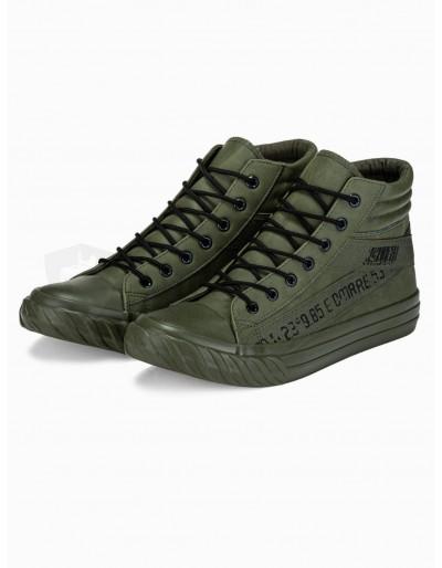 Men's ankle shoes T357 - khaki