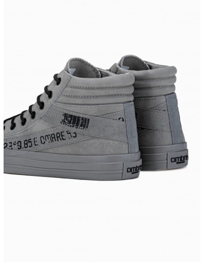 Men's ankle shoes T357 - grey
