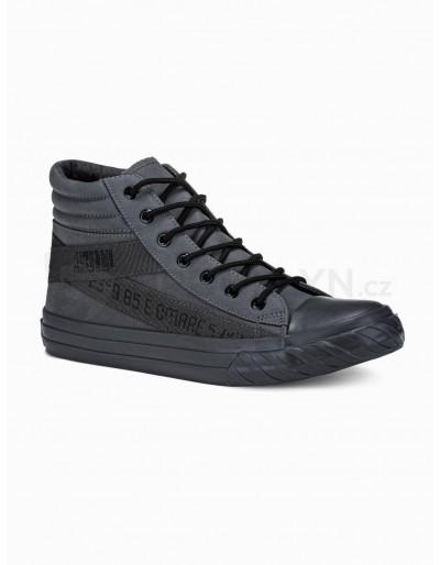 Men's ankle shoes T357 - dark grey