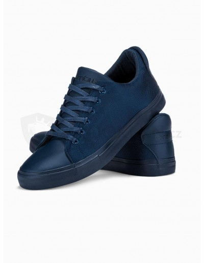 Men's high-top trainers T351 - navy