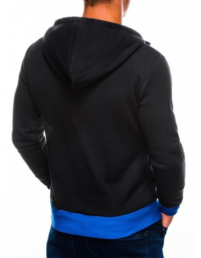 Men's zip-up hoodie AMIGO - black/blue