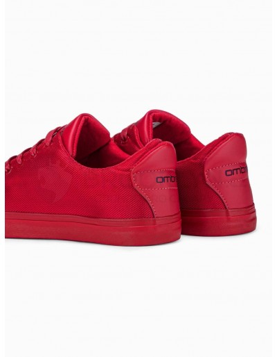 Men's high-top trainers T351 - red